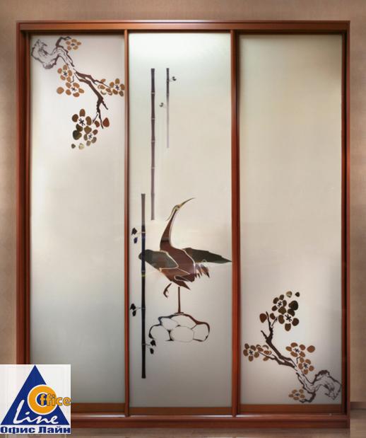 рисунок шкаф купе зеркало птицы фото как