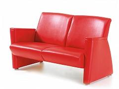 Красный двухместный офисный диван БЕАТРИС