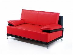 Двухместный офисный диван ДАЙМОНД красно-черный