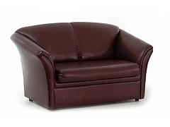 Двухместный коричневый диван для офиса ЛИЛИЯ