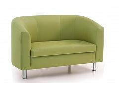 Двухместный диван для офиса МИШЕЛЬ зеленый