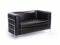 Двухместный коричневый диван для офиса НИКА