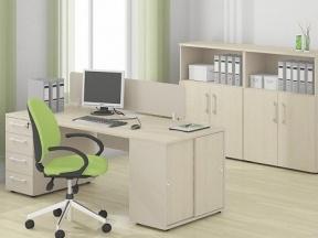 """Мебель для персонала SPRINT в цвете """"Клен + Бежевый"""""""