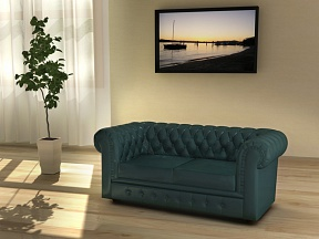 Офисный диван CHESTERTON зеленый в интерьере