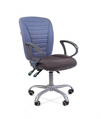 Кресло для персонала CHAIRMAN 9801 ERGO ткань голубая/серая